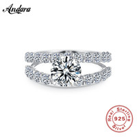 New Arrival Authentic 100 925 Sterling Silver Ring Double Layer AAA Zricon Finger Ring For Women