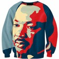 2017 Character 3D Printed Hoodies  Martin Luther King Digital Printing Hoodies Quality Branding Clothing Plus Size