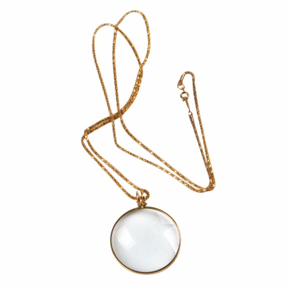 New Fashion Unisex Magnifying Glass Decor Monocle Lens Necklace Pendant Reading Book Aid High Quality