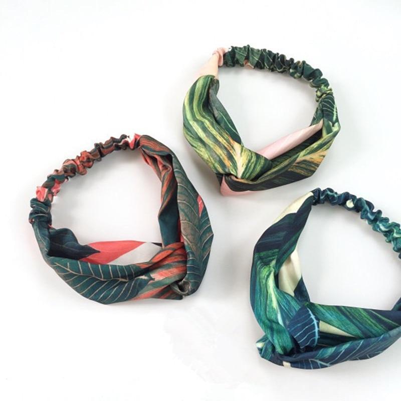 8SEASONS Fashion Headbands Headwear for Women Hair Jewelry Leaves Pattern  Rabbit Ear Iron Wire Inside Flexible Multicolor 1 PC 47823207fbb