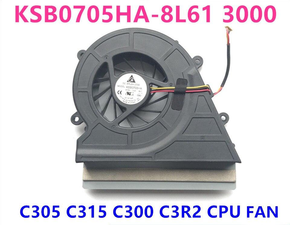 Nouveau ventilateur de refroidissement d'origine pour ordinateur portable/ordinateur portable pour LENOVO 3000 c305 c315 c300 c3r2 CPU KSB0705HA-8L61