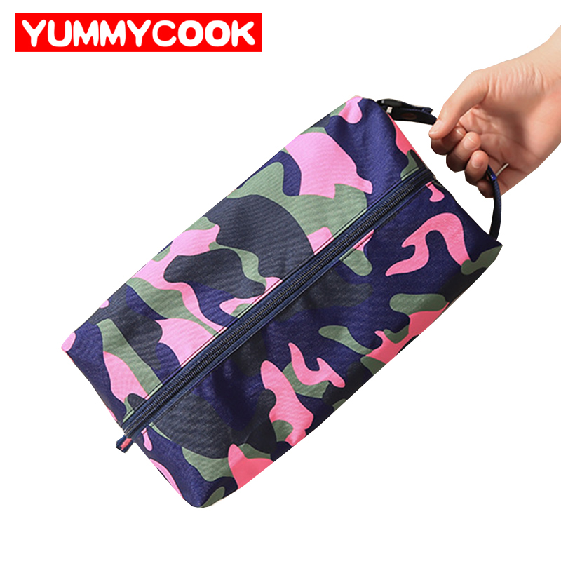 Womens Men Camouflage Shoe Bag Clothes Dance Shoes Mesh Zipper Bag Suitcase Organizer Accessories Supplies Stuff Product