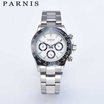 Parnis Quartz Chronograph Watch Men Top Brand Luxury Pilot Business Waterproof Sapphire Crystal Men's Watch Relogio Masculino - DISCOUNT ITEM  30% OFF All Category