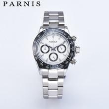 Parnis Quartz Chronograph Watch Men Top Brand Luxury Pilot B