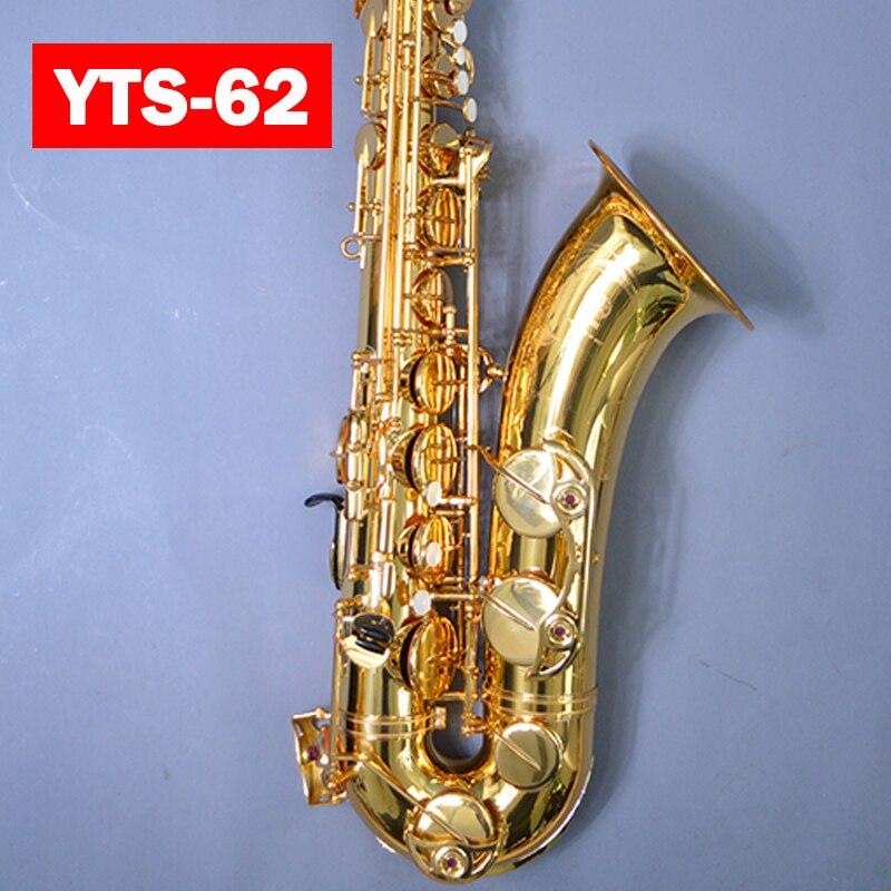 Japon professionnel Saxophone Ténor 62 D'or sax Ténor BB Or en laiton saxofone instruments de musique Avec Le Cas Embout, Boîte