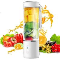 AUGIENB 500ml Mini Portable Juicer Multifunctional Mixer Smoothie Maker Extractor USB Rechargeable for Home Travel 6 Blades