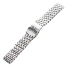 Plata 18mm/20mm/22mm/24mm Acero Inoxidable Milanese Shark Mesh Venda de Reloj de la Correa Correa de reloj de pulsera para Omega Tissot Seiko