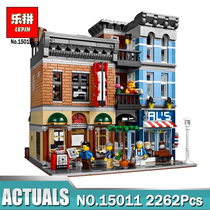 New Lepin 15011 2262pcs Series The Detective's Office Set Avengers Set Assemble Building Blocks Compatible legoing 10246 Toys