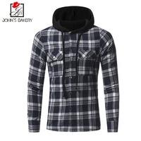 2018 Men Flannel Plaid Shirt 100 Cotton Spring Autumn Casual Long Sleeve Plaid Shirt Soft Comfort