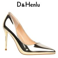BIGTREE 2017 New Shoes Woman D Orsay Two Piece Women S Pumps Pointed Toe High Heels