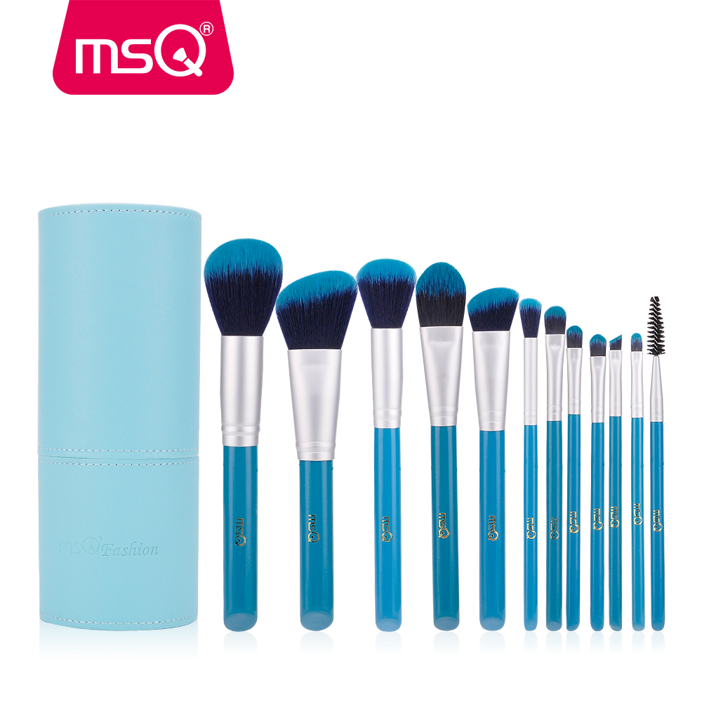 MSQ Pro 12pcs Makeup Brushes Set Cosmetics Eyeshadow Foundation Soft Synthetic Hair Make Up Brushes
