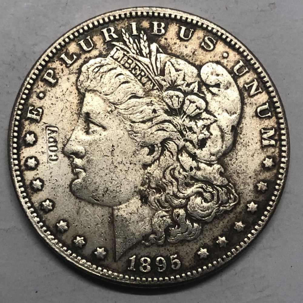 1895 (P.S.O) Amerika Birleşik Devletleri Morgan Bir Dolar Gümüş Kaplama Kopya Para (herhangi bir tek nane Seçin)