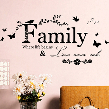 Art Words About Family Wall Stikers 1