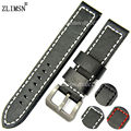 Fashion Thick Black+Red Line Leather Watchbands Watch Band Strap Belt Bracelet Band Sweatband Wrist Men Women  20mm 22mm 24mm