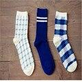 Comercio al por mayor 2015 nueva moda de invierno casual geométrica cuadrícula caramella Japonés lindo de la historieta de las mujeres calcetines calcetines de mujer harajuku