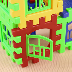 Image 5 - 24pcs Building Blocks Kid House Building Blocks Construction Developmental Toy Set 3D Bricks Toy Construction Bricks GYH