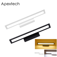 Apextech LED Bathroom Makeup Mirror Light Wall Mounted Dresser Lamp Modern Indoor Decor Lighting Fixture 25CM 40CM 56CM