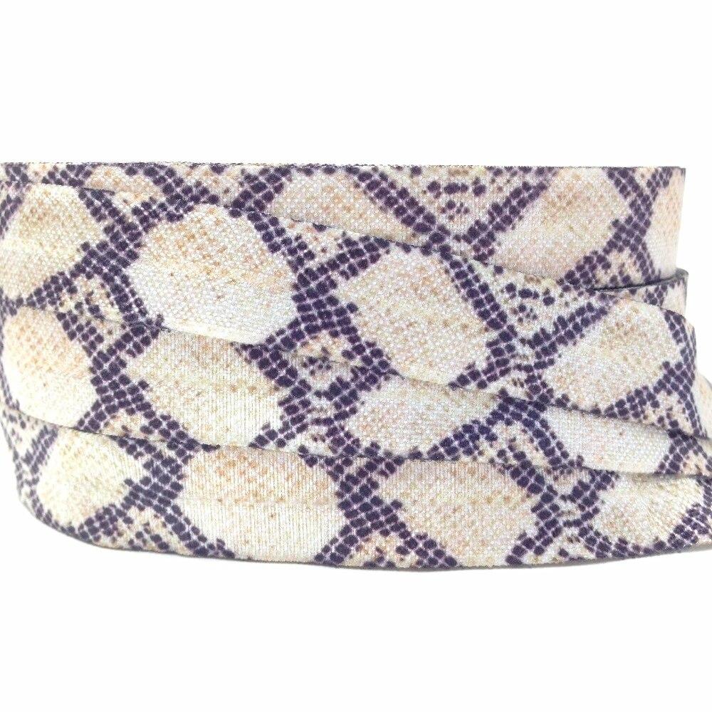 Reptile Rainbow Snake Skin Print Fold Over Elastic DIY Hair Tie FOE Elastic for Hair Ties Animal 58 FOE Snakeskin Printed Elastic