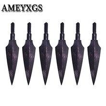 12 Uds puntas de flecha de Tiro con Arco cabezas anchas tradicionales 150 Grian Tornillo en punta de flecha para arco flecha al aire libre caza accesorios de tiro