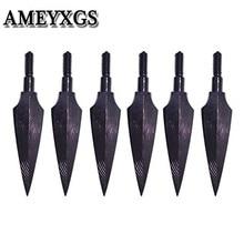 12個のアーチェリー伝統的なbroadheads 150 grianスクリューで矢印弓矢印射撃屋外ハンティング用アクセサリー