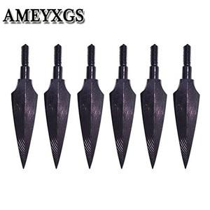 Image 1 - 12 pièces tir à larc pointes de flèche traditionnelles têtes larges 150 Grian vis dans la tête de flèche pour arc flèche en plein air chasse tir accessoires