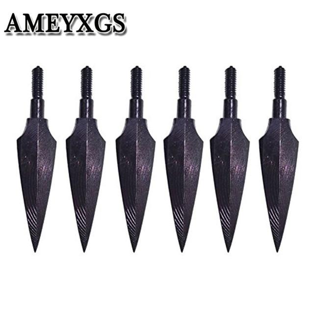 12 pièces tir à larc pointes de flèche traditionnelles têtes larges 150 Grian vis dans la tête de flèche pour arc flèche en plein air chasse tir accessoires