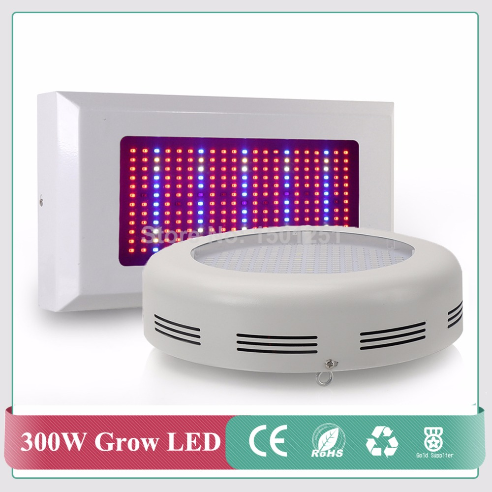 Round/Panel LED Grow Light 300W High Power Full Spectrum Red+Blue+White+IR+UV for Hydroponic Planting Free shipping