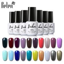 Belen, 7 мл, 50 цветов,, Гель-лак для ногтей, замачиваемый гель, долговечный УФ-гель, акриловый для дизайна ногтей, накладные кончики, Гель-лак