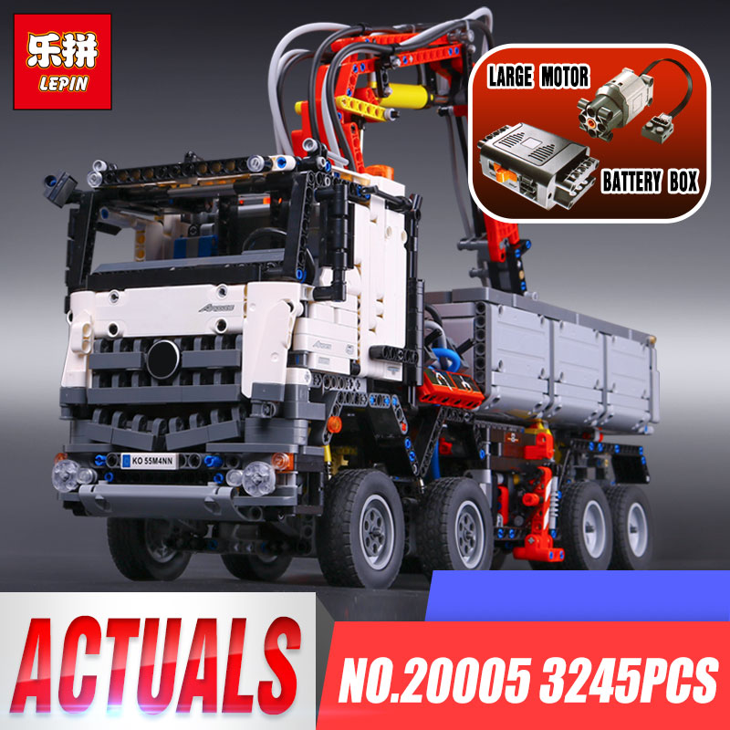 DHL LEPIN 20005 Technic Series Compatible legoing 42023 Arocs Model Building Block Bricks Boys Toy Educational Children Gift цена 2017