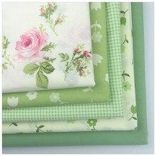 5 pcs/Lot Green Cotton Textil