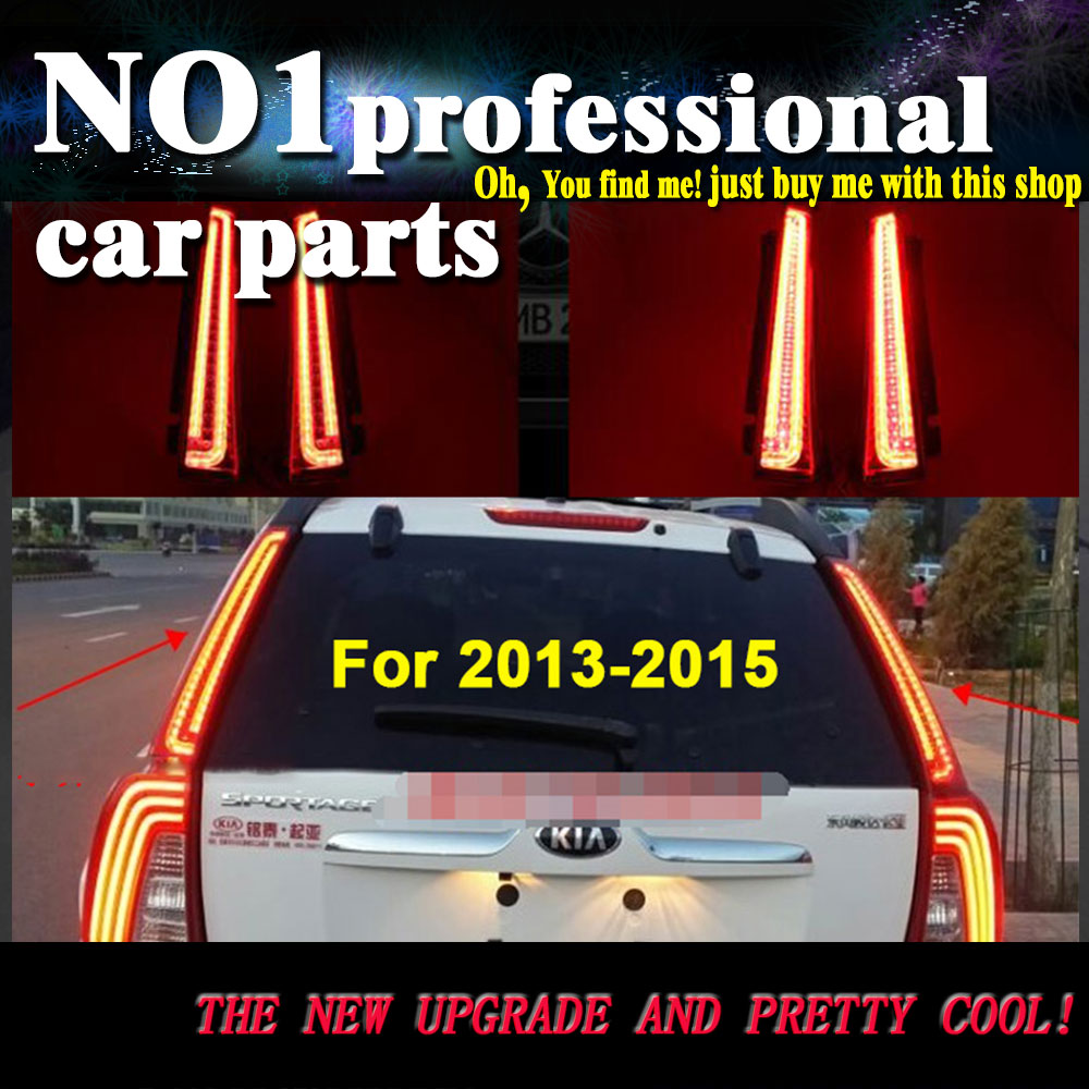 Car Styling For Kia  Sportage Tail lights 2013-2016 LED Tail Lamp rear trunk lamp cover drl+signal+brake+re apexel 10xdg3 10x telephoto 198° fisheye 0 63x wide angle 15x macro lens