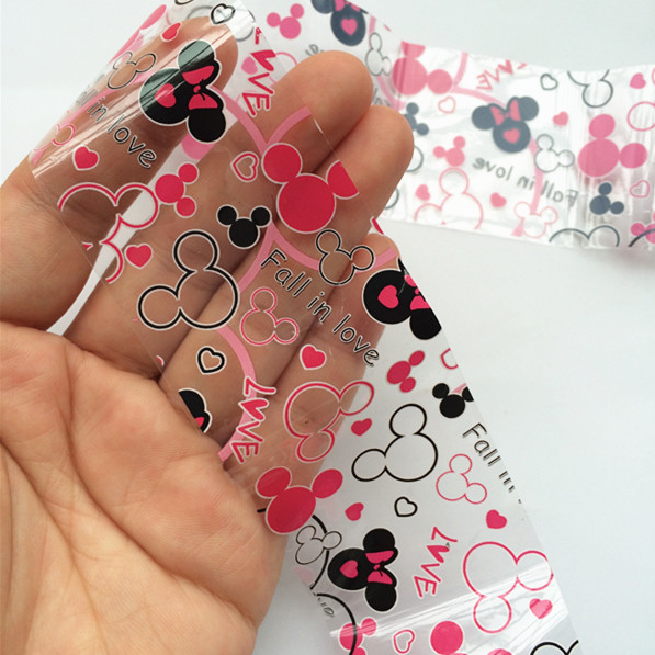 1Roll Foil Nail Art Sticker Fall in Love Mickey Mouse Stick On Nails ...