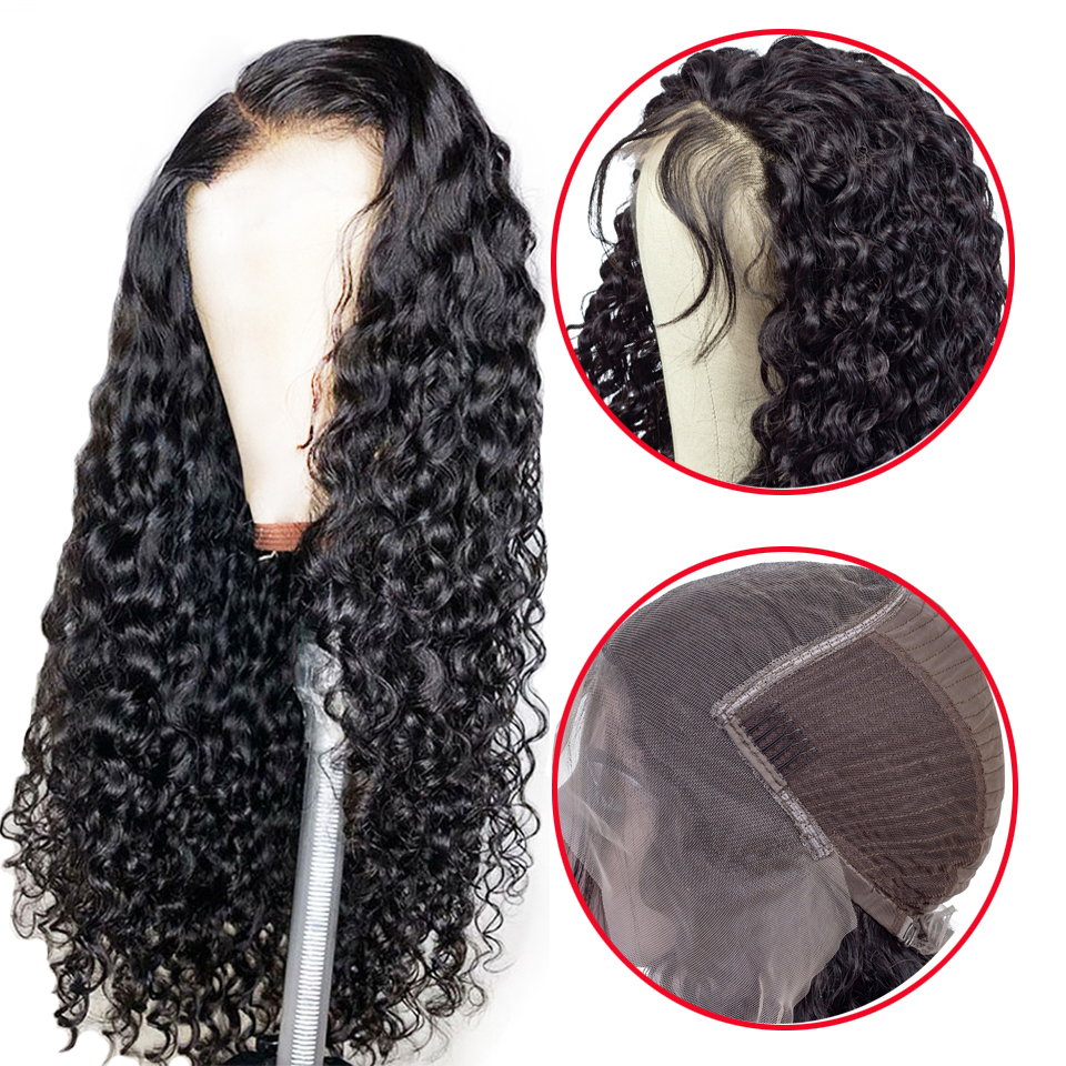 13x6 Lace Front Human Hair Wigs For Women Brazilian Water Wave Hair Wig Pre Plucked With