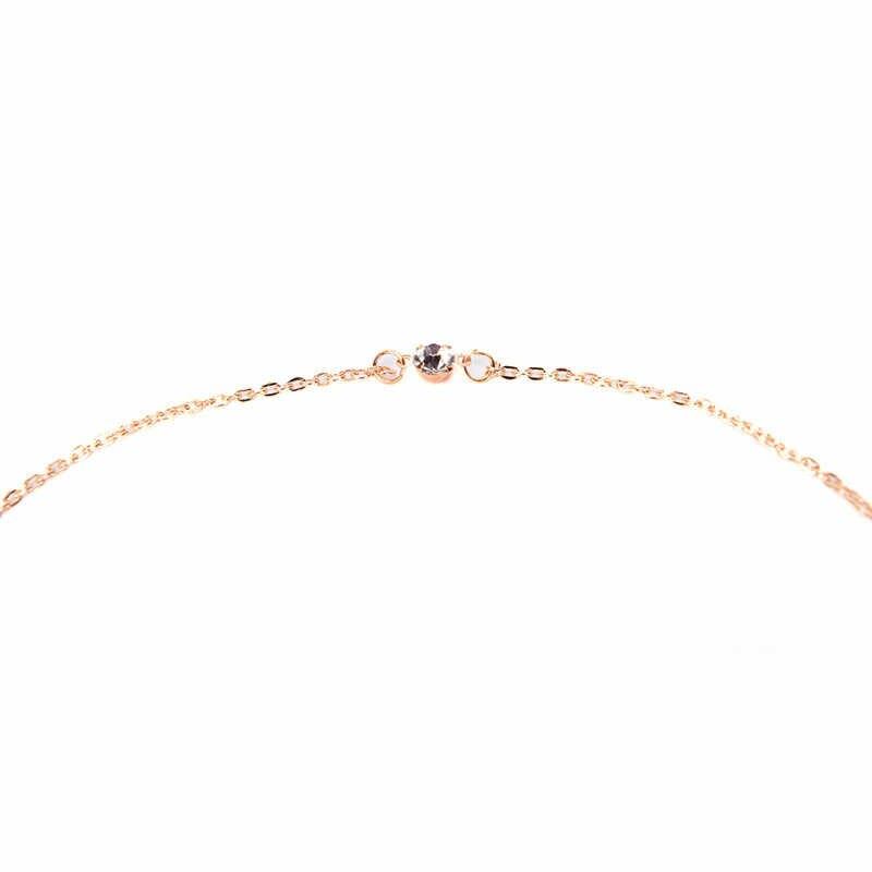 מפואר נשים עיצוב קריסטל רקע שרשרת זהב צבע בחזרה גוף שרשרת תכשיטי חתונה ללא משענת שמלת אבזרים