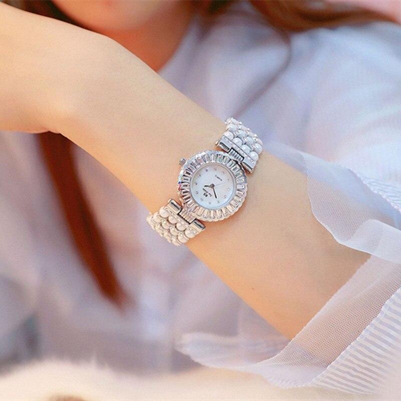 Luxury Pearl Band Casual Woman Watches Fashion Ladies Watch Women 2018 Rhinestone Quartz Watches Women Bracelet Reloj Mujer