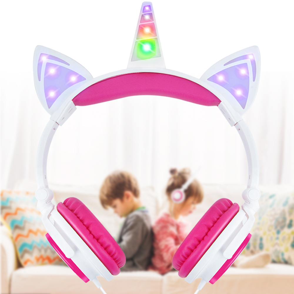 E T unicorn Ear wire Headphones with LED earphone for xiaomi phones Headset for iPad phone Portable Headset Stereo sound