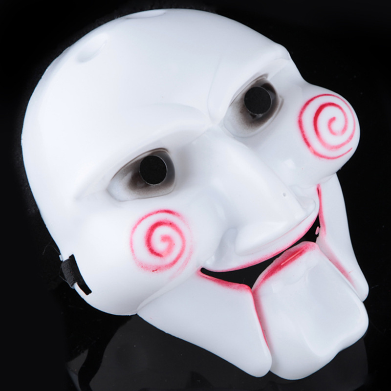 buy scary halloween mask horror killer mask halloween costume party supplies high quality pvc saw theme from reliable party halloween