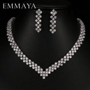 Image 1 - Emmaya boucles doreilles en cristal Zircon, strass, boucles doreilles en cristal, collier, bijoux, mariage, nouvelle collection, livraison gratuite pour femmes, nouvelle collection