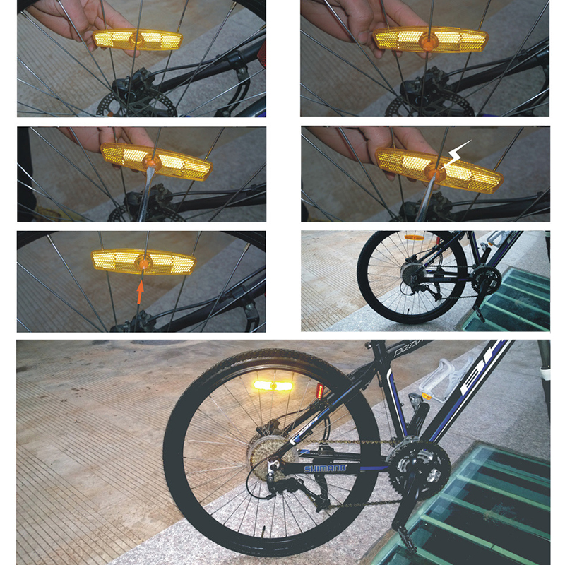 Bicycle Reflector for Wheel A pair White color