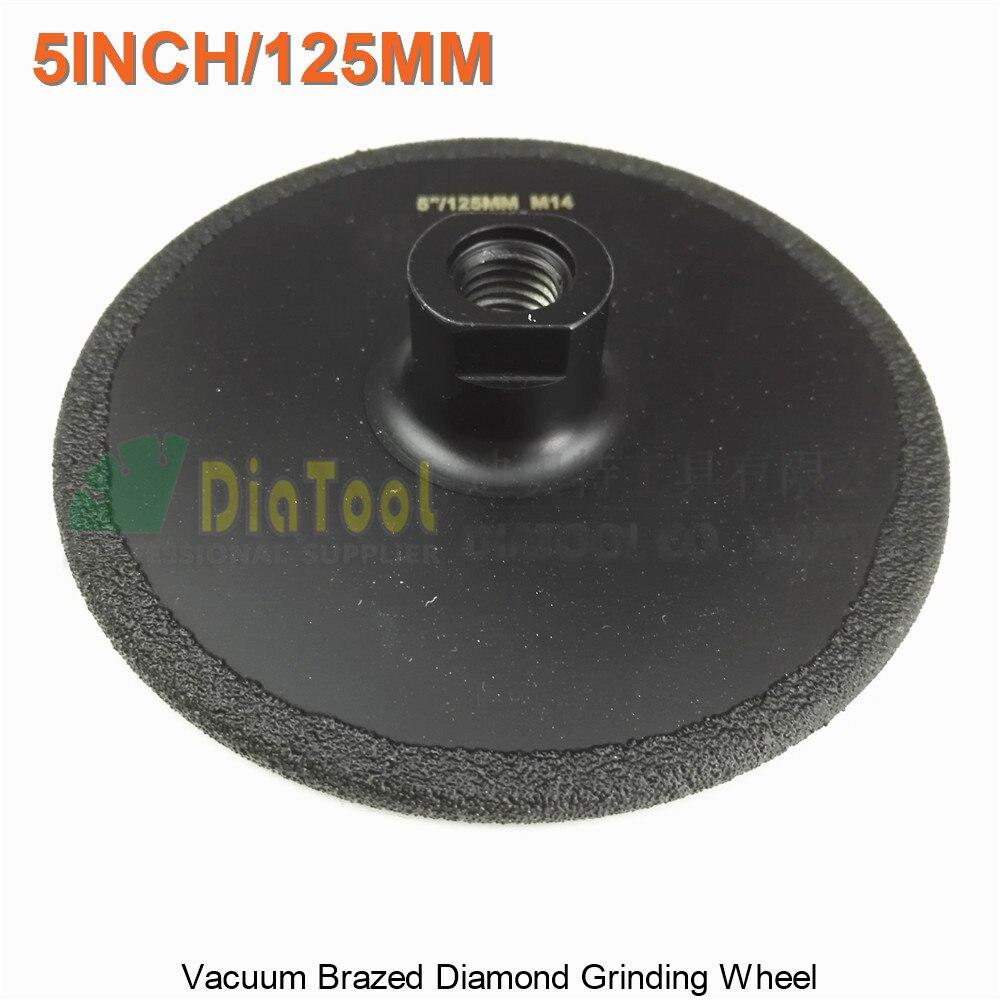 1pc Diameter 125mm Vacuum Brazed diamond flat grinding wheel M14 Grit #30 5