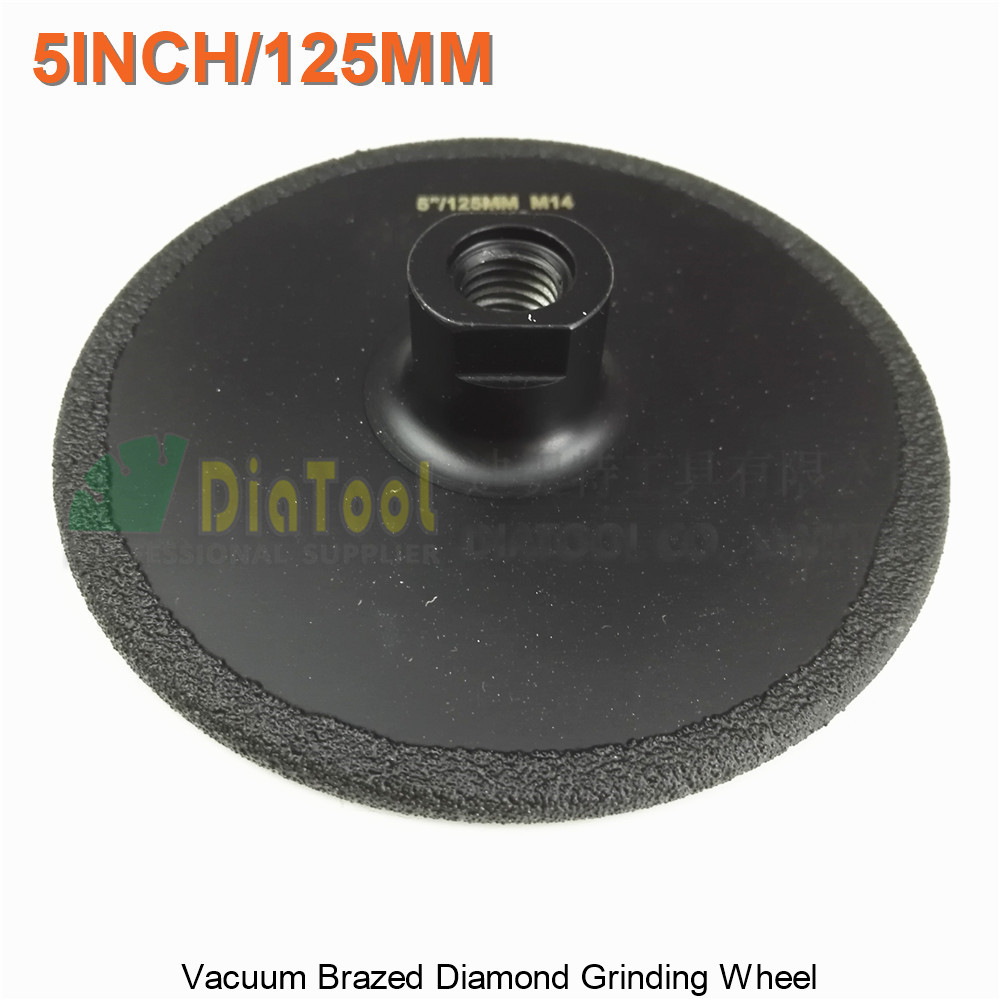цены  DIATOOL 1pc Diameter 125mm Vacuum Brazed Diamond Flat Grinding Wheel M14 Grit #30 5