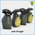 Mr.Froger totoro decorations holding umbrella My Neighbor Totoro Decoration Gift Toy Plastic Dolls Photography props Miyazaki