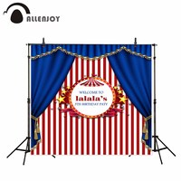 Allenjoy Photography Backdrop Birthday Tent Stars Party Circus Red Blue Background Photocall Fotografia Photobooth
