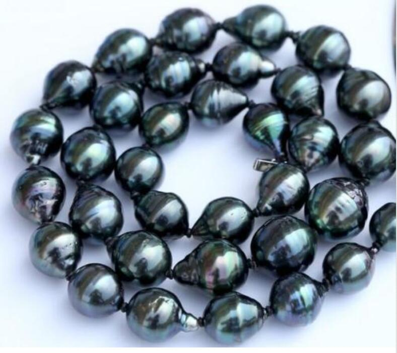 Huge 18 12-16 mm natural tahitian black green pearl necklace Huge 18 12-16 mm natural tahitian black green pearl necklace