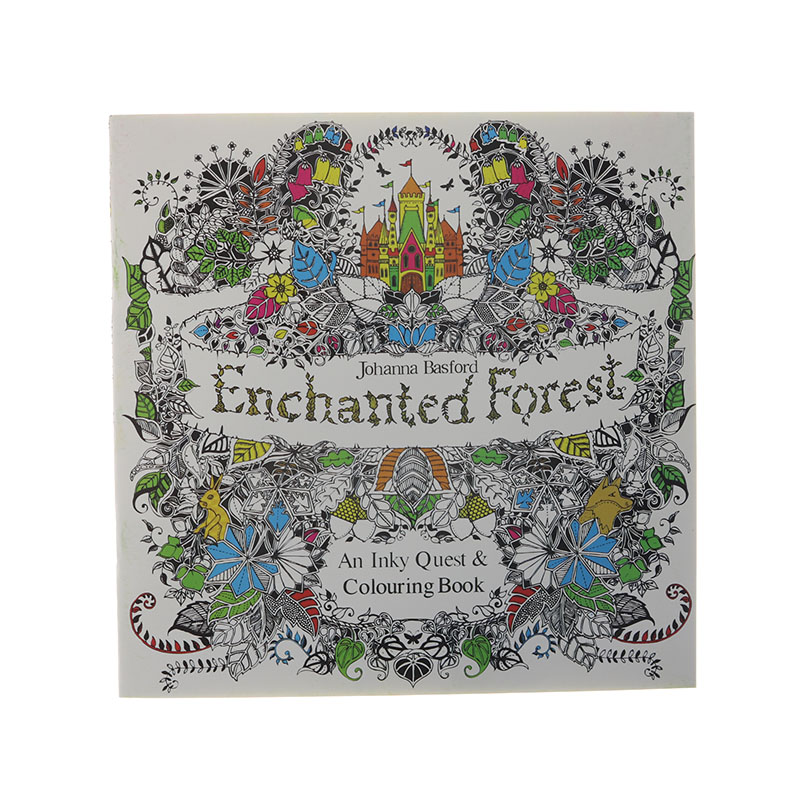 24 Page Magic Forest Painting Books Adult Decompression Hand-Painted Graffiti Book Children Stationery Office Supplies 1pc