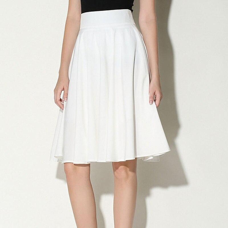 white skater midi skirt dress ala