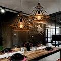 Cânhamo Corda Pendente Luzes Vila Americana Personalidade Criativa Art Deco Pingente Restaurante Lâmpada Barra de Luz
