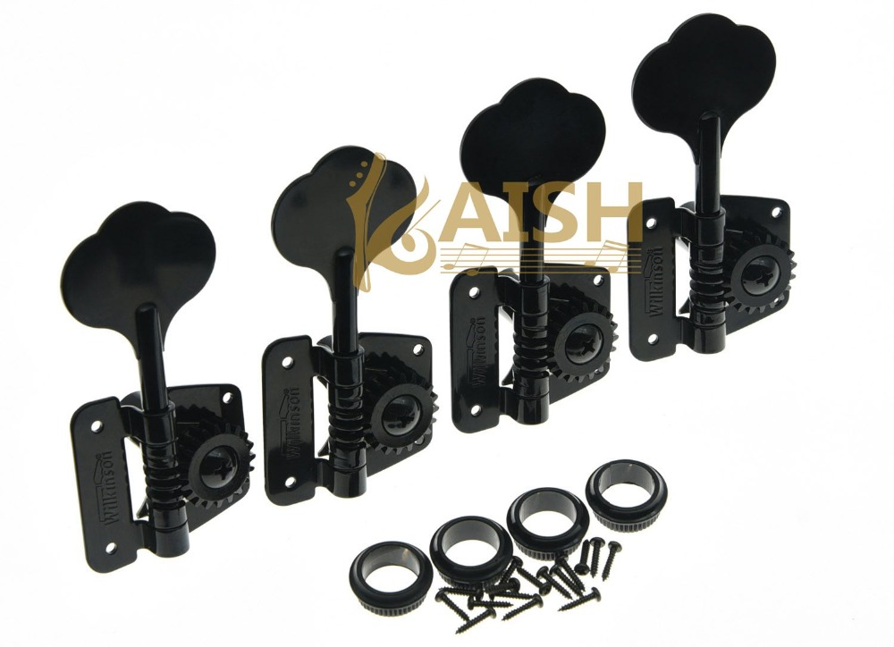 Wilkinson 4 Right Handed Bass Tuners WJBL-200 Tuning Keys Machine Heads Black футболка классическая printio the black keys