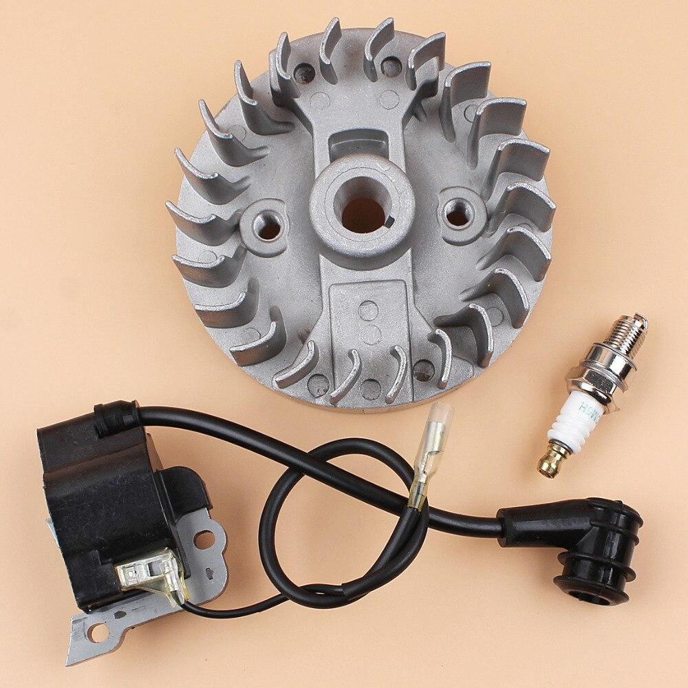 Flywheel Ignition Coil Wire Spark Plug For Honda Gx35 Gx