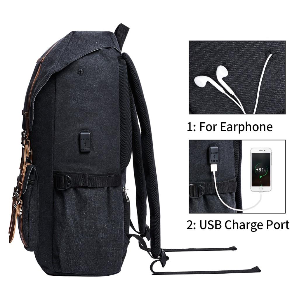 KALIDI bärväska ryggsäck 15,6 - 17,3 tums för män kvinnor rese - Laptop-tillbehör - Foto 3